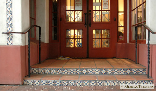 Merveilleux Exterior Stairs Risers With Madrid Mexican Talavera Tile