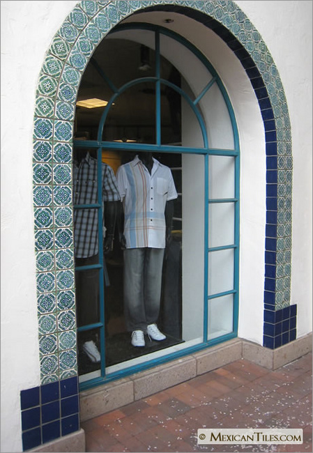 Mexicantiles Com Exterior Wall Arch With Green Toledo 1