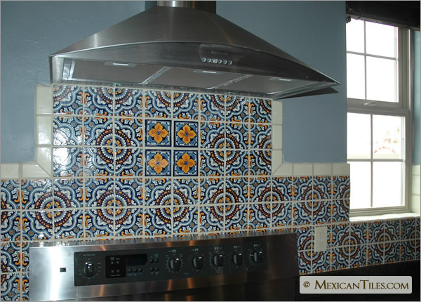 Mexicantiles Com Kitchen Backsplash With Royal And Flor