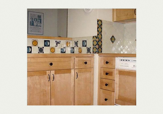 mexicantiles - kitchen backsplash with celestial motif mexican