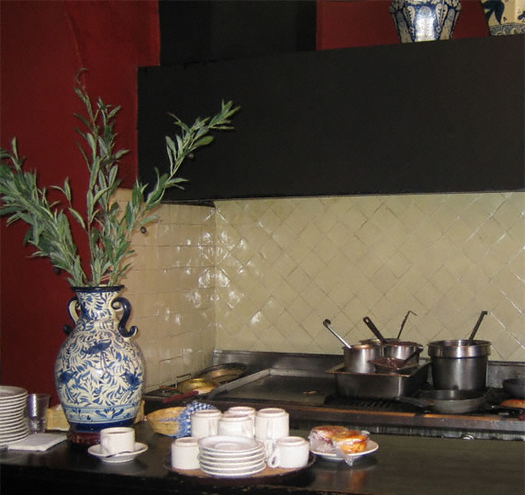 backsplash with mexican white talavera tile