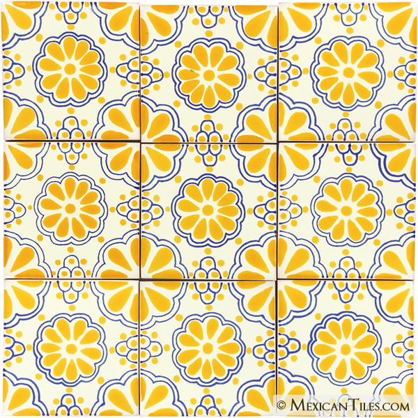 Mexican Tile Yellow Lace Mexican Tile