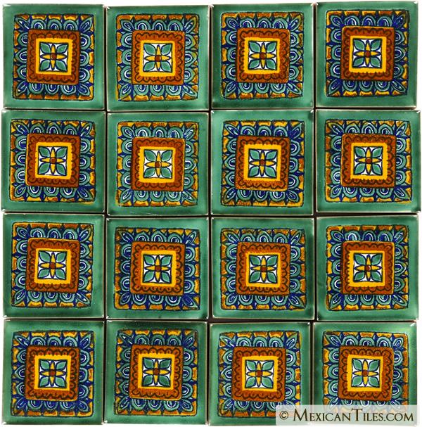 Mexican Tile Green Veleta Mexican Tile