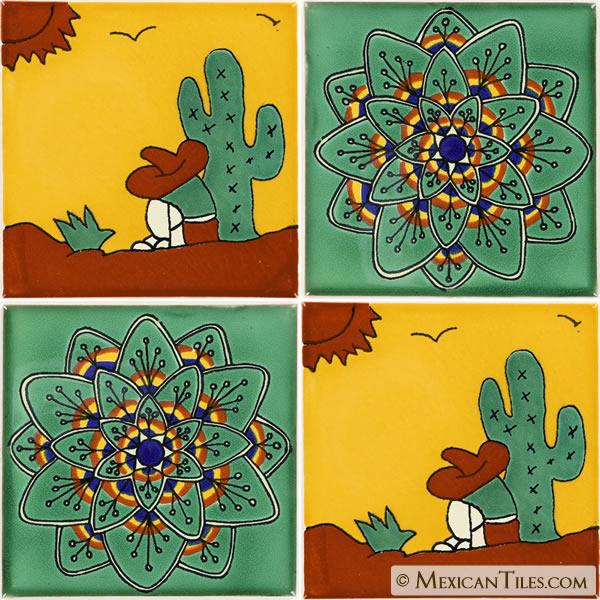 Mexican Tile Peasant 3 Talavera Mexican Tile