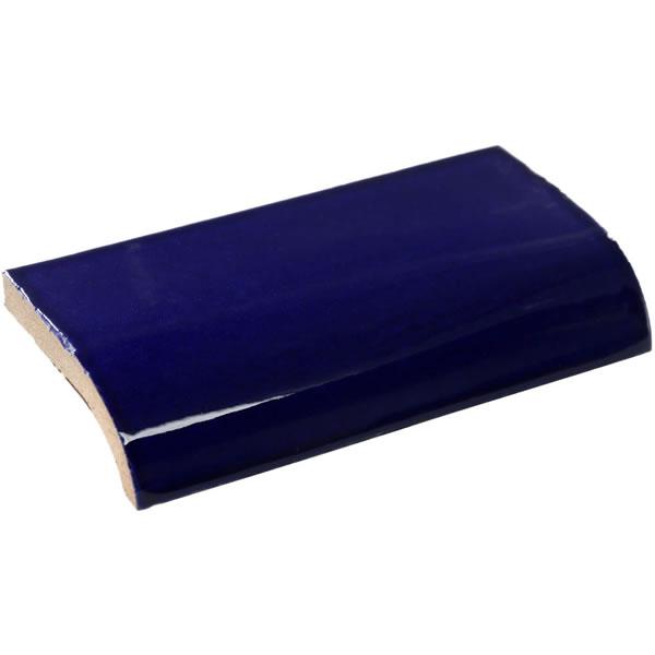 Mexican Tile 2 188 X 4 188 Cobalt Blue Mud Bullnose