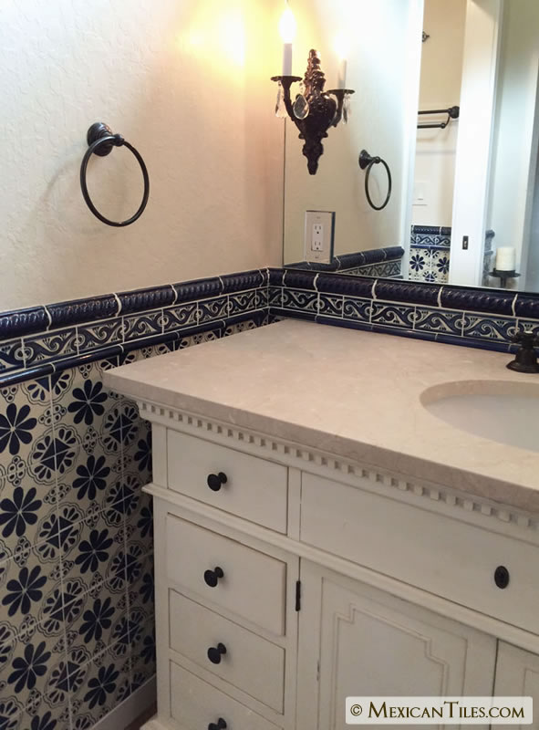 Mexican Tile 1 190 X 6⅛ Cobalt Blue Rope Molding