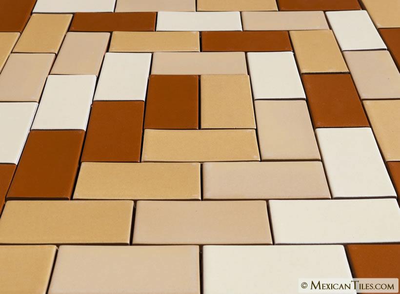 Mexican Tile 2x4 Yellow Quartz Matte Malibu Ceramic Tile