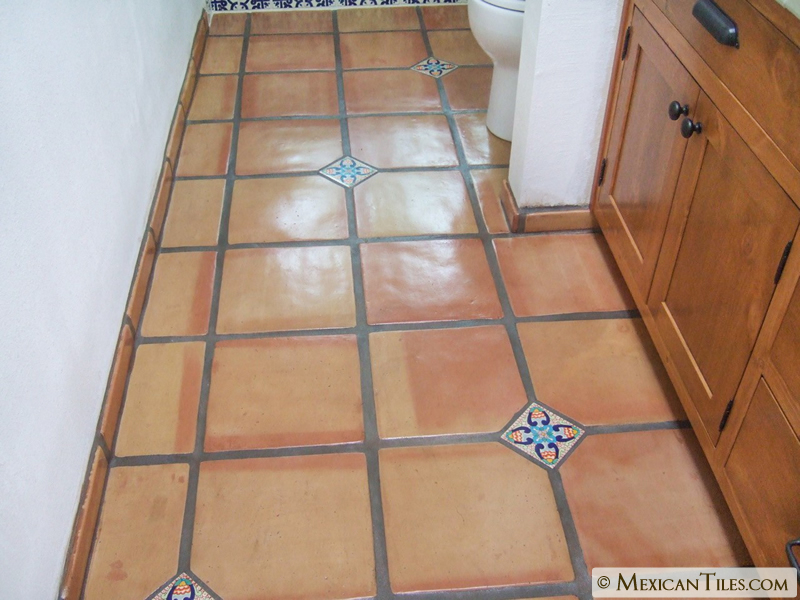 Mexican Tile 12x12 Super Saltillo Terracotta Floor Tile Rounded