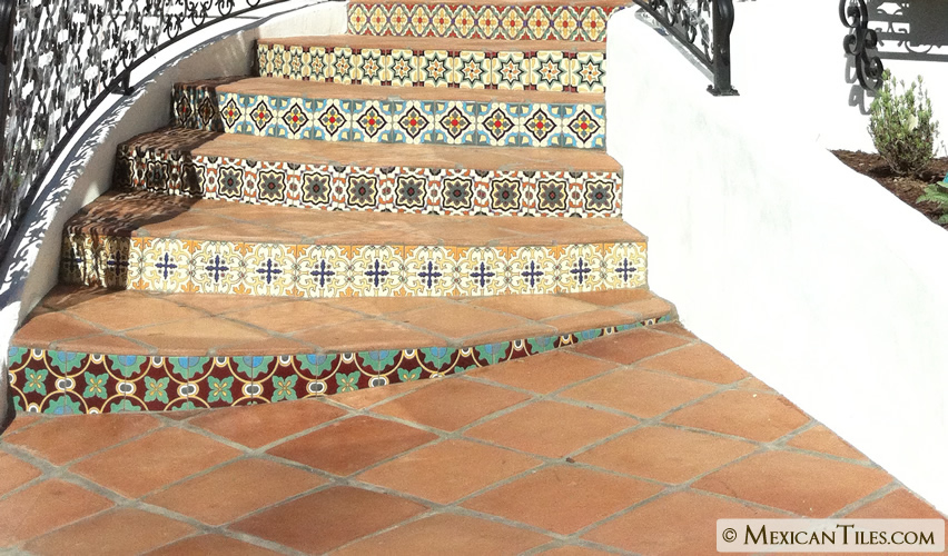 Mexican Tile 8 X 8 Spanish Mission Red Terracotta Floor Tile