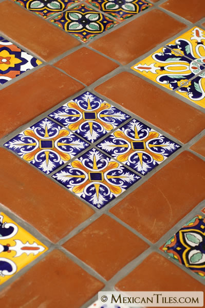 Mexican tile 5 x 12 spanish mission red terracotta for Spanish style floor tiles
