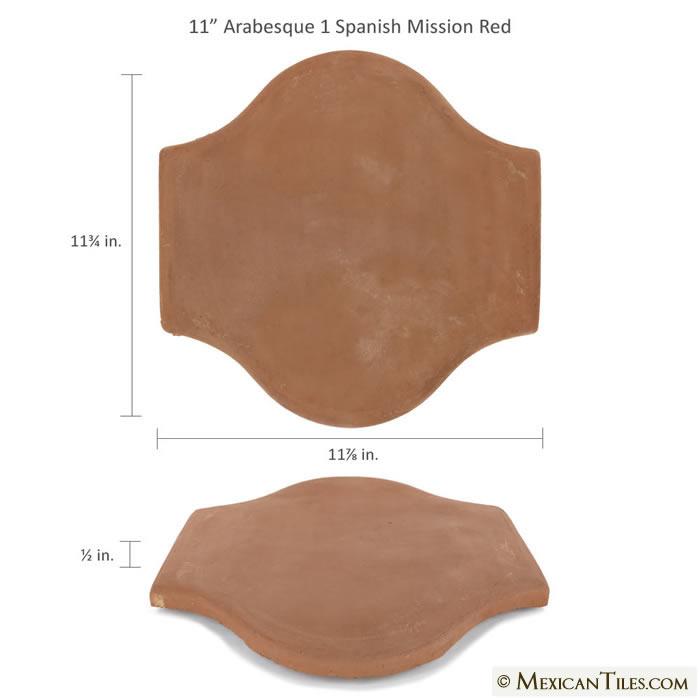 Mexican Tile Spanish Mission Red Terracotta Floor Tile Arabesque 1