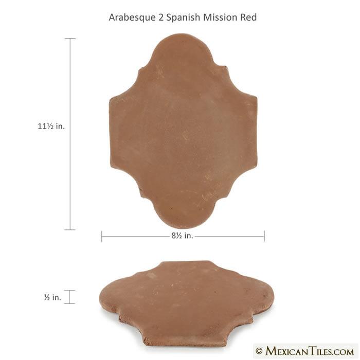 Mexican Tile Spanish Mission Red Terracotta Floor Tile Arabesque 2