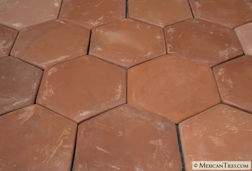 Mexican Tile 11 Spanish Mission Red Terracotta Floor Tile Hexagon