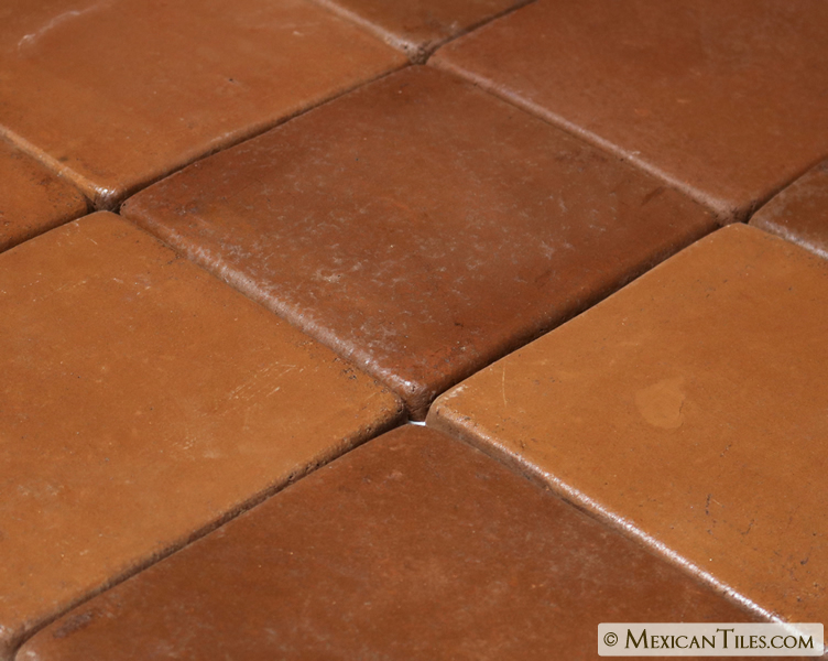 Mexican tile 8 x 8 sealed spanish mission red Spanish clay tile