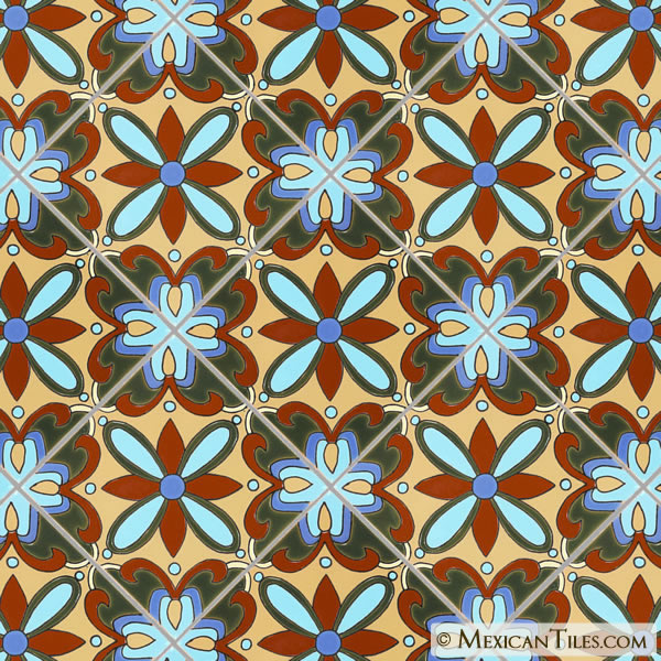 Mexican Tile Mira Monte 4 Malibu Ceramic Tile