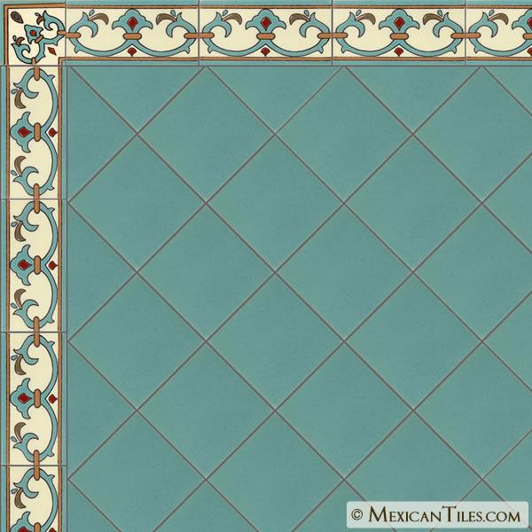 Mexican Tile Sonoma 6 Border Malibu Ceramic Tile
