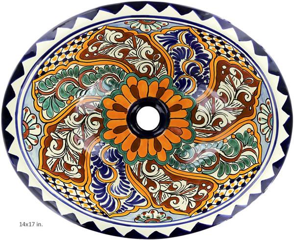 Mexican Tile Mexican Talavera Sink Veracruz