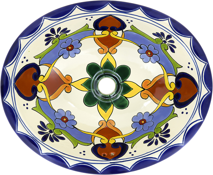 Mexican Tile Mexican Talavera Sink Grace