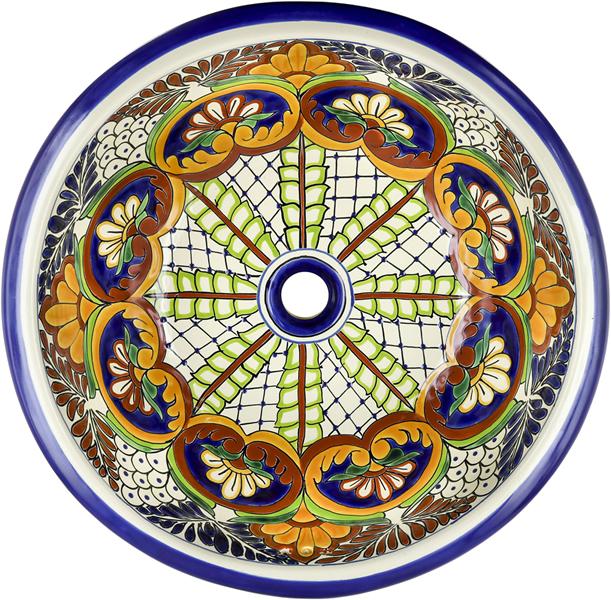 Mexican Tile Mexican Talavera Sink Puebla