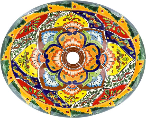 Mexican Tile Mexican Talavera Sink Candelaria
