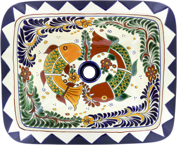 Ceramic Mexican Talavera Sink - Cabo