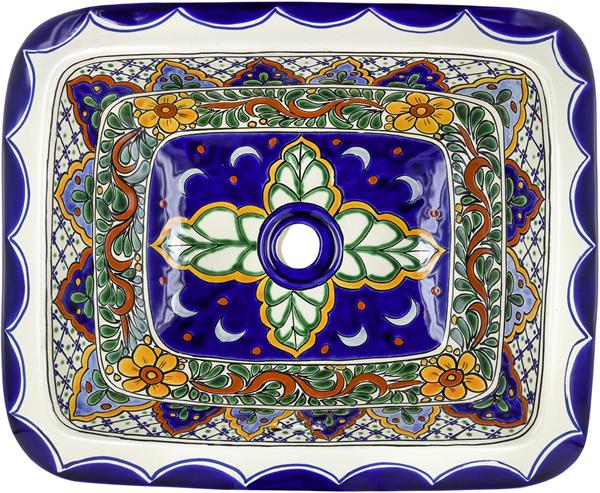 Mexican Tile Mexican Talavera Sink Rio Verde