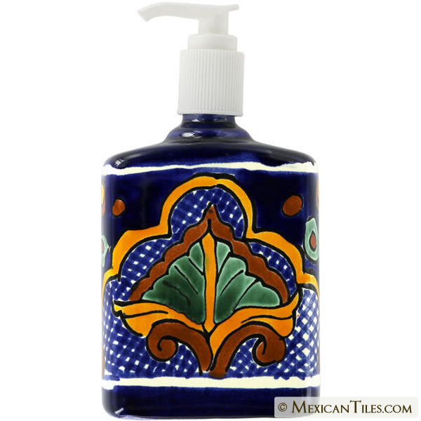 San Miguel - Mexican Talavera Pottery Soap Dispenser