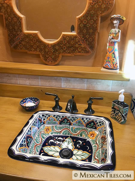 Mexican Tile Corsica Lotion Soap Dispenser
