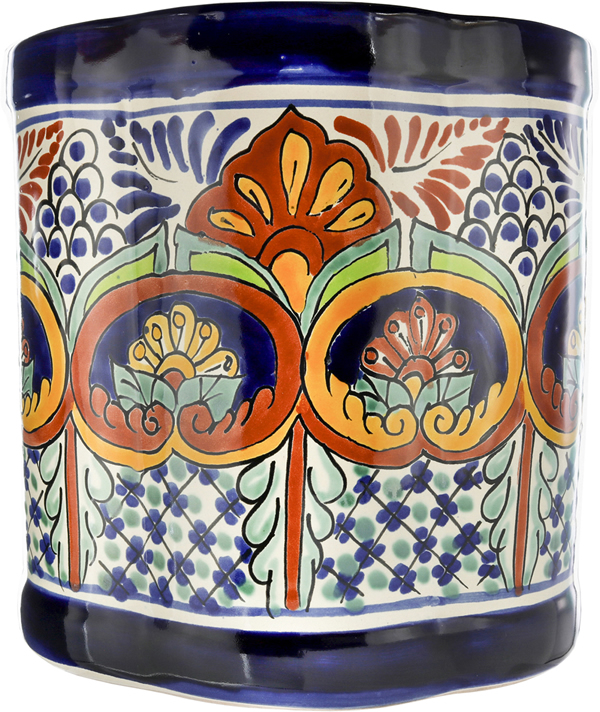 Puebla - Handpainted Mexican Talavera Wastebaskets