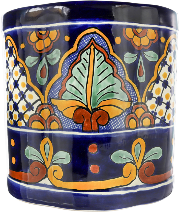 San Miguel - Handpainted Mexican TalaveraWastebaskets