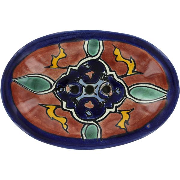 Mexican Tile Terra Cotta Granada Soap Dish