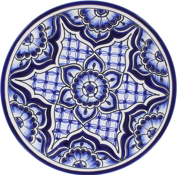 Mexican tile talavera ceramic plate 7 for Oficina zona azul talavera