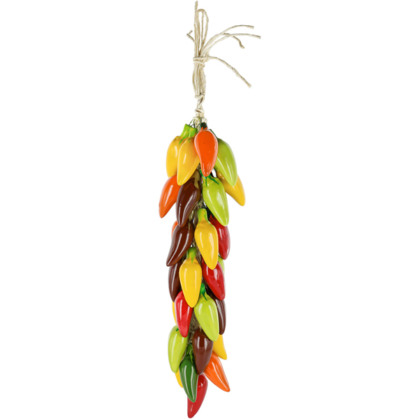 Multicolor Jalapeño - Ceramic Mexican Chili Ristras