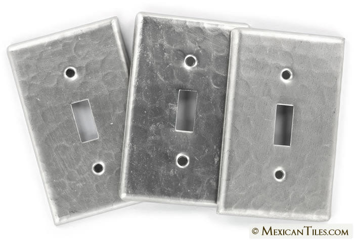 mexican tile on sale single toggle switchplate brushed nickel finish. Black Bedroom Furniture Sets. Home Design Ideas