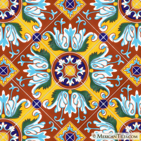 Mexican Tile Romanesco 3 Terra Nova Mediterraneo Ceramic