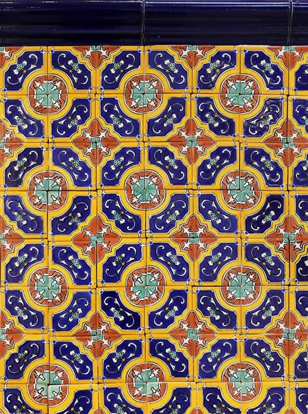 Mexican Tile 2x6 188 Nocturnal Sea Chair Rail Moldingterra