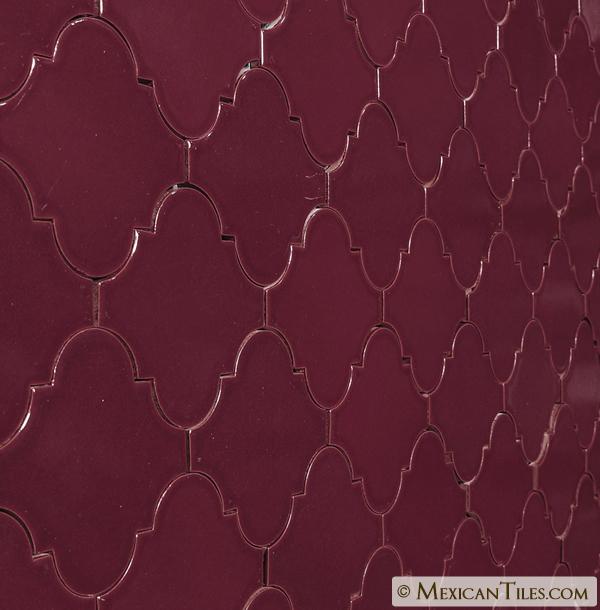 Mexican Tile Merlot Gloss Andaluz Malibu Ceramic Tile