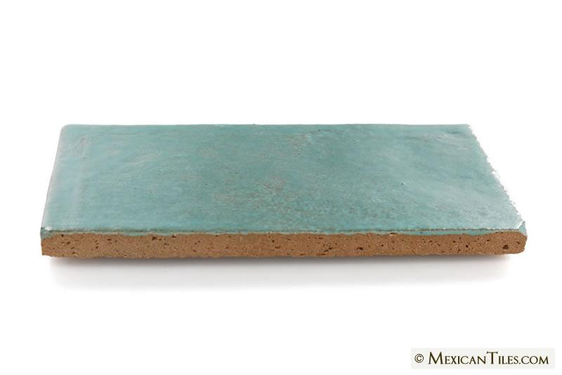Mexican Tile 3x6 Lucite Green Matte Siena Ceramic Tile