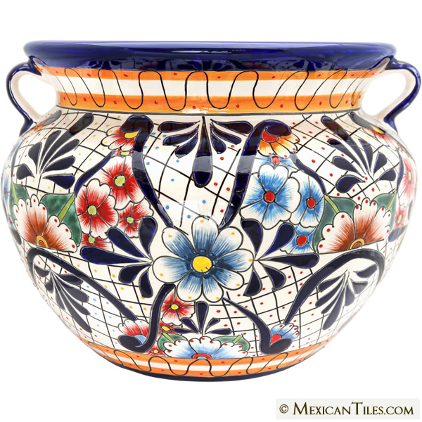 Hand Painted Mexican Ceramic Talavera Large Round Planters View Collection  sc 1 st  Mexican Tile & Mexican Tile - Mexican Sothwest Style Decor Talavera Pottery: Plates ...