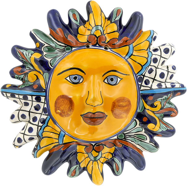 Mexican Tile N 1 Ceramic Mexican Talavera Sun