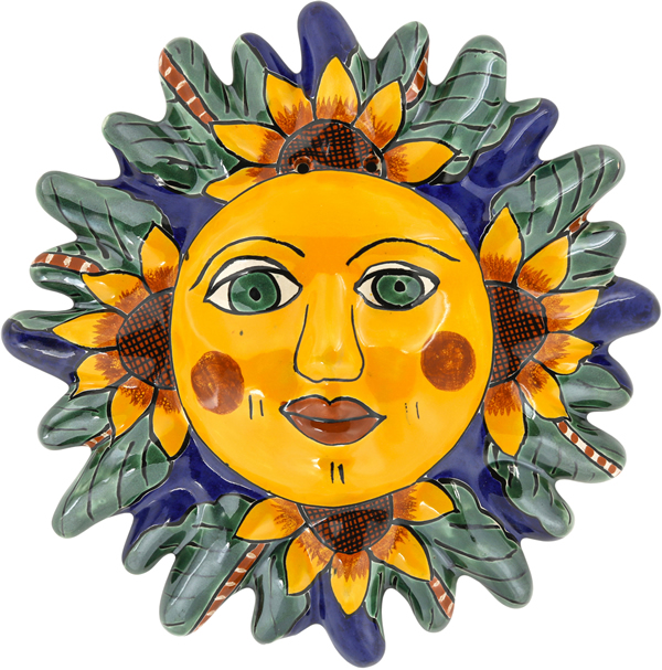 Mexican Tile N 7 Ceramic Mexican Talavera Sun
