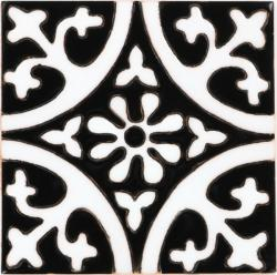 La Quinta Black White 1 Gloss Malibu Ceramic Tile