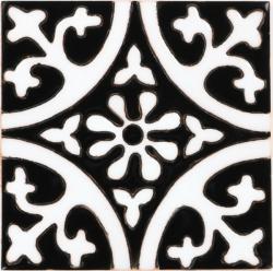 La Quinta Black White 1 Gloss Malibu Ceramic Tile
