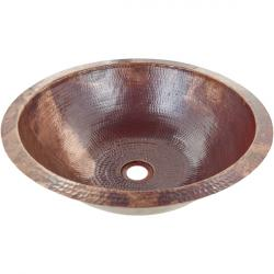 Classic Round Undermount - Hand Hammered Mexican Copper Sink