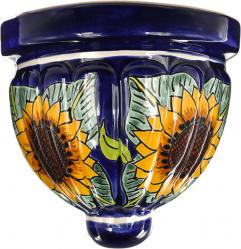 Sunflower - Mexican Talavera Ceramic Wall Planter