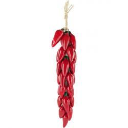 Mexican Tile Red Jalape 241 O Ceramic Chili Pepper Ristra