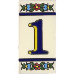 Colima - Mexican Handcrafted Ceramic Tile House Number