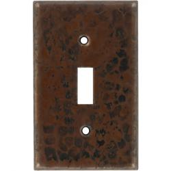 Single Antique - Mexican Hammered Copper Switch Plates