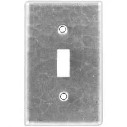 Single Toggle Brushed Nickel - Mexican Hammered Copper Switch Plates