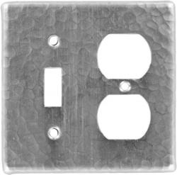 Toggle/Outlet Brushed Nickel - Mexican Hammered Copper Switch Plates